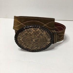 Snakeskin Buckle Belt